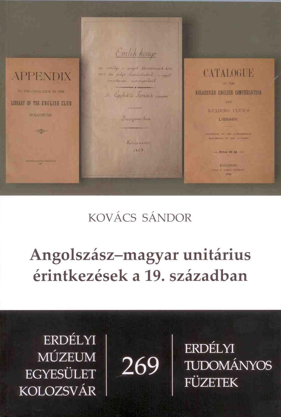 Angolszász-magyar unitárius érintkezések a 19.században