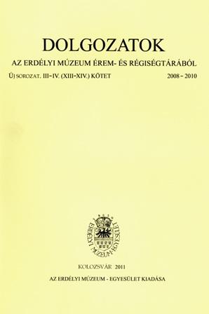 Dolgozatok az erdélyi múzeum érem- és régiségtárából